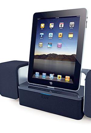<b>7. Best for iPads, too </b><br/> iLuv iMM747 iPad speaker dock <br/> This dock works with an iPod or iPhone, but it'll look a bit puny as the iMM747 is designed for the larger iPad. It charges as it plays and you can watch videos on it ? though it sits in portrait orientation and movies favour landscape format.  <br/> £94.99 <br/> play.com