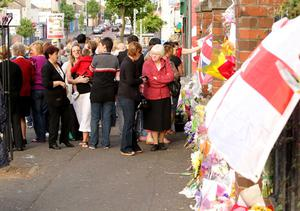 Vigil  held by residents of the Shankill