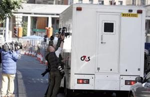 Media attempt to photograph a security van carrying Stephen Griffiths, 40, away from Bradford Magistrates' Court where he appeared  charged with murdering prostitutes Suzanne Blamires, 36, Shelley Armitage, 31, and Susan Rushworth, 43. PRESS ASSOCIATION Photo. Picture date: Friday May 28, 2010.