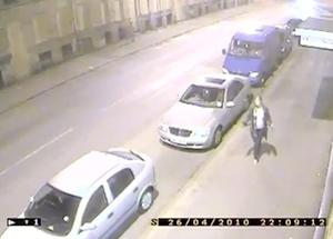 West Yorkshire Police handout CCTV footage of Shelley Armitage on April 26 2010 on Rebecca Street in Bradford City Centre.