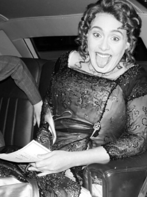 Adele arriving for her party