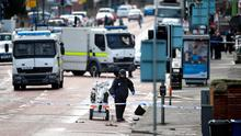A bomb disposal unit officer at the scene