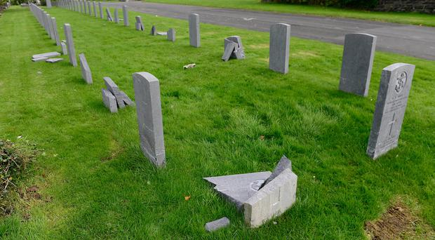 Damage: Some of the graves