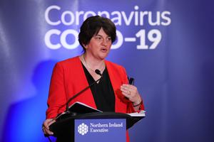Arlene Foster revealed the health minister is consulting unions on the plans