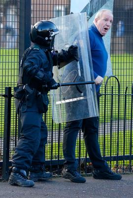 Bobby Storey during disturbances in east Belfast in 2013