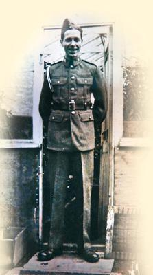 Jim in uniform during his Army days