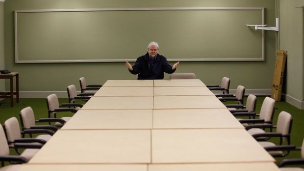 Ivan Little inside one of the main conference and control rooms