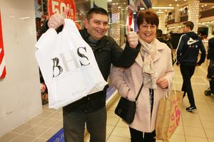 Martin and Mary McKernan are delighted with their purchases