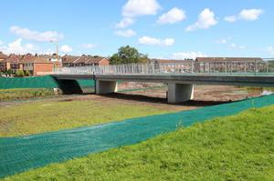 New bridge at Orangefield Lane