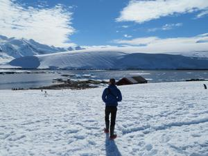 Kit Adams in Antarctica