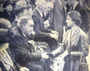 Robert Quigg meeting the Queen in 1953