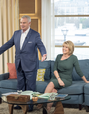 Eamonn Holmes and wife Ruth Langsford on This Morning yesterday