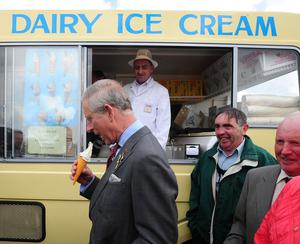 Prince Charles at the Royal Ulster Agricultural Show in 2010