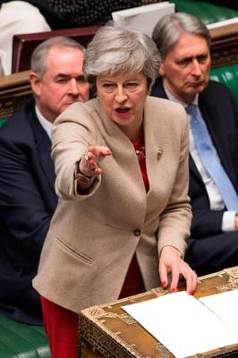 Prime Minister Theresa May during a debate in the Commons yesterday