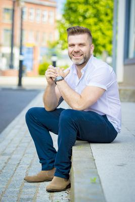 Main goal: Vinny Hurrell always wanted to work for the BBC