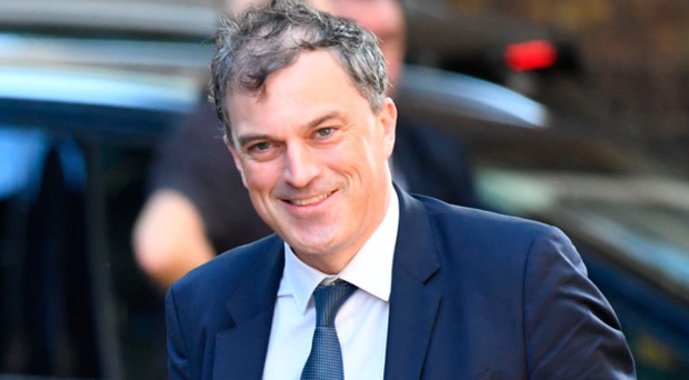 New Secretary of State Julian Smith leaves No10 yesterday
