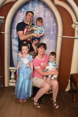 Mark and Claire McClurg with their children Lilianna (5) and two-year-old twin boys Josiah and Judah