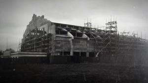 The hall being built