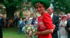 Princess Diana meeting crowds in Belfast city centre 1992