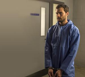 Murderer Paul Spector played by Jamie Dornan