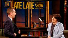 Ryan Tubridy and Arlene Foster on The Late Late Show in Dublin last night