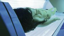 Relaxation: on a sunbed