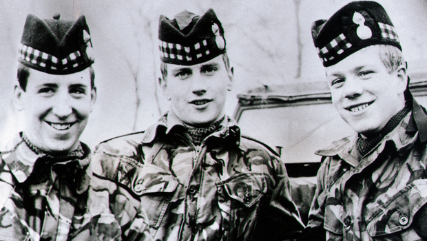 From left: Dougald McCaughey and brothers Joseph and John McCaig were killed in 1971