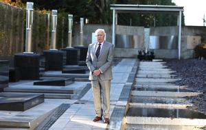 Stephen White, the new chair of the RUC GC Foundation, in the Remembrance garden