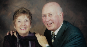 James with his late wife Gwen