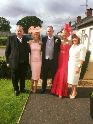 The late Patrick Hughes with (from left) children Sinead, Kevin and Joanne, and his wife Eileen