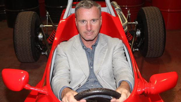 Eddie Irvine at his track