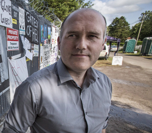 Eddie Mitchell from Love Leitrim at a proposed fracking site in Belcoo, Co Fermanagh, last year
