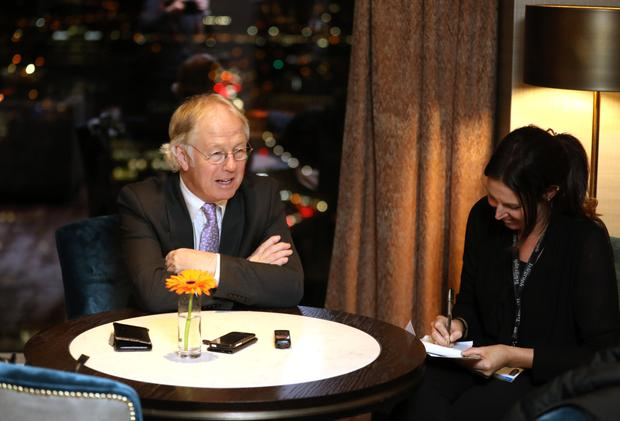 Eamonn Mallie with Belfast Telegraph's journalist Claire McNeilly
