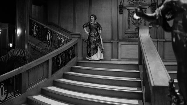 Adele on the staircase