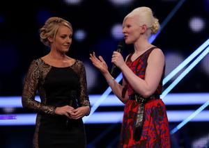 Kelly Gallagher on stage at last night's BBC Sports Personality of the Year 2014 bash