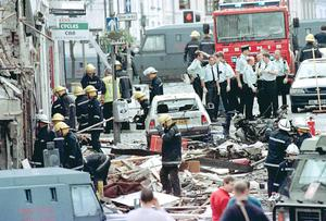 The aftermath of the Real IRA's Omagh bomb atrocity in 1998