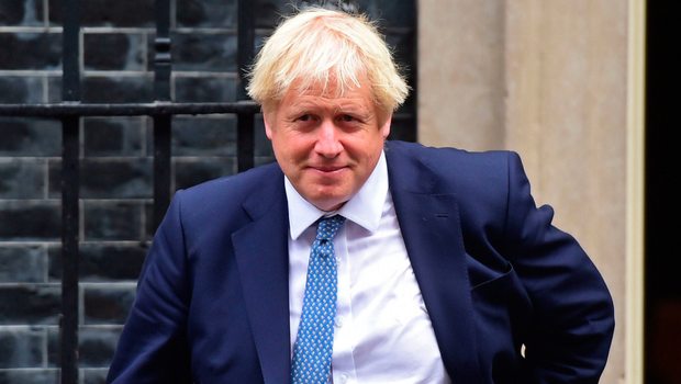 Prime Minister Boris Johnson outside No10 Downing Street yesterday