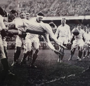 James Stevenson in his rugby playing days in the 1950s
