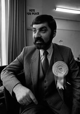 Lord Alderdice in his younger days