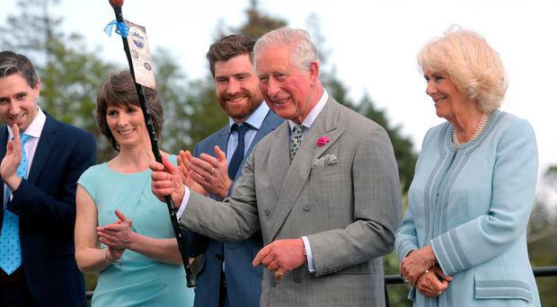 Prince Charles presented with a shillelagh