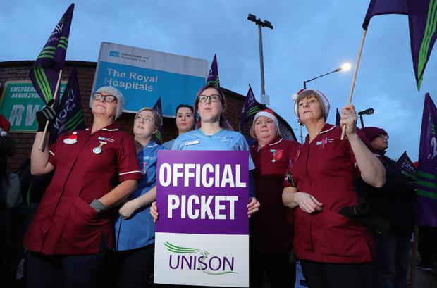 Mary Lou McDonald and Arlene Foster will hope to avoid more strikes by Northern Ireland nurses