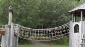 The buzzard sculpture was stolen from a play park at Castlewellan Forest