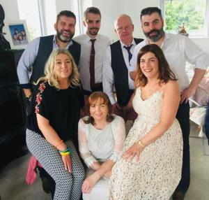 With parents Jean and Donal, sisters Donna and Emma and brothers Patrick and Donal