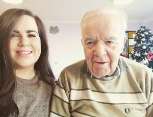 Julie Dorrian and her grandfather Oliver, who died from Covid-19 on Saturday