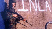 Mike Harmson serving in Northern Ireland in the 1980s