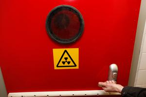 The decontamination room in the nuclear bunker that was built during the cold war