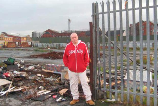 Author and former soldier Ken Wharton on a visit to Belfast