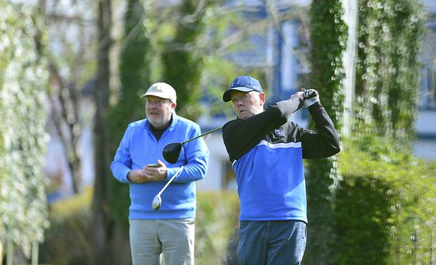 Tee time: Golfers were very happy to be back on the green at Ormeau Golf Club as restrictions were lifted on Thursday