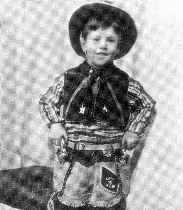 Saddle up - a very young Gerry Adams