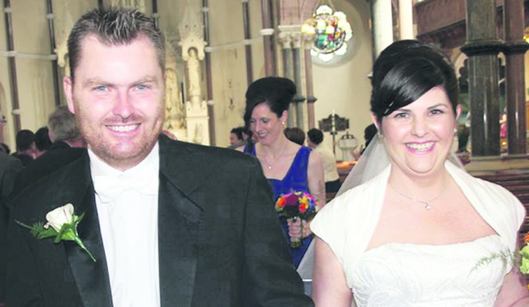 Simon and Charlotte Corr-Wilson got married at St Patrick's Church in Belfast, followed by a reception at the Grand Opera House.